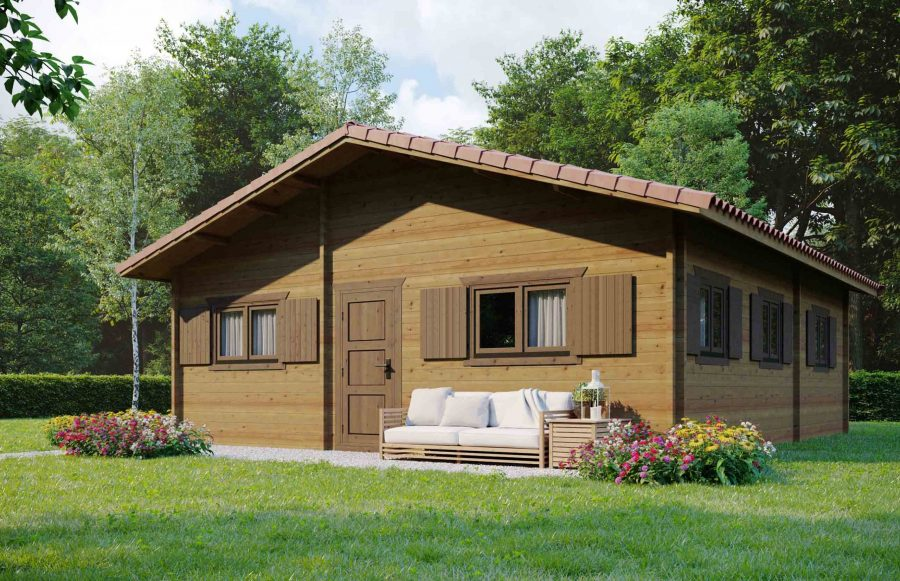 Insulated log cabin Tinto